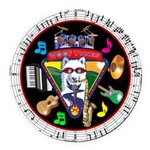WooFTunes LogoMusic Round Car Magnet
