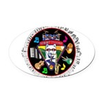 WooFTunes LogoMusic Oval Car Magnet
