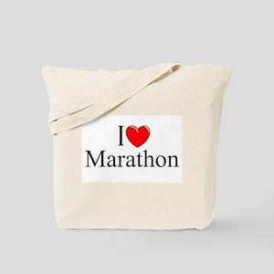 """I Love Marathon"" Tote Bag"