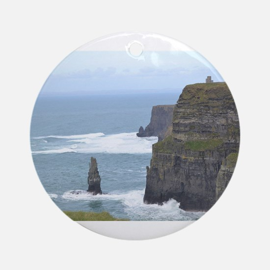 Cliffs of Moher 2 Ornament (Round)