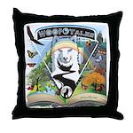 WooFTales Emblem Throw Pillow