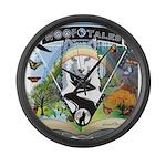 WooFTales Emblem Large Wall Clock