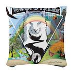WooFTales Emblem Woven Throw Pillow