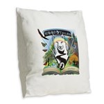 WooFTales Emblem Burlap Throw Pillow