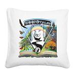 WooFTales Emblem Square Canvas Pillow