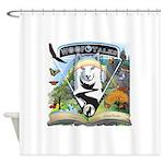 WooFTales Emblem Shower Curtain