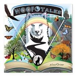 WooFTales Emblem Square Car Magnet 3