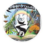 WooFTales Emblem Round Car Magnet