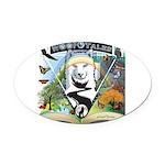 WooFTales Emblem Oval Car Magnet