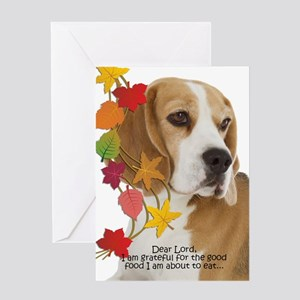 Funny Beagle Thanksgiving Greeting Cards