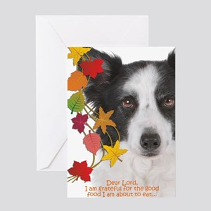 Funny Border Collie Thanksgiving Greeting Cards