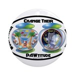 Change Their PAWtitude Ornament (Round)