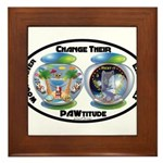 Change Their PAWtitude Framed Tile