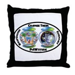 Change Their PAWtitude Throw Pillow