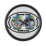 Change Their PAWtitude Large Wall Clock