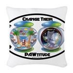 Change Their PAWtitude Woven Throw Pillow