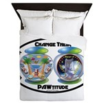 Change Their PAWtitude Queen Duvet