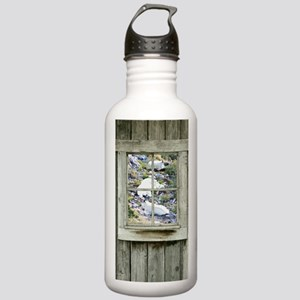Old Cabin Window Goats Stainless Water Bottle 1.0L