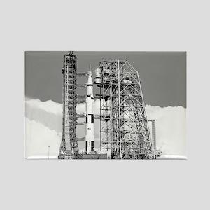 Saturn V Rectangle Magnet