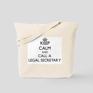 Keep calm and call a Legal Secretary Tote Bag