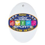 Dog Powered Sports - Live To Run Ornament (Oval)