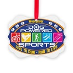 Dog Powered Sports - Live To Run Ornament