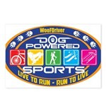 Dog Powered Sports - Live To Run Postcards (Packag