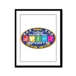 Dog Powered Sports - Live To Run Framed Panel Prin