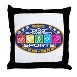 Dog Powered Sports - Live To Run Throw Pillow