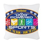 Dog Powered Sports - Live To Run Woven Throw Pillo