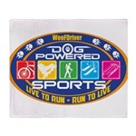 Dog Powered Sports - Live To Run Throw Blanket
