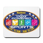 Dog Powered Sports - Live To Run Mousepad