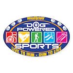 Dog Powered Sports - Live To Run Sticker