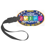 Dog Powered Sports - Live To Run Luggage Tag