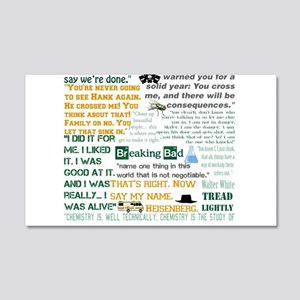 Walter White Quotes 20x12 Wall Decal
