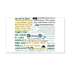 Walter White Quotes Wall Decal