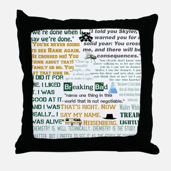 Walter White Quotes Throw Pillow