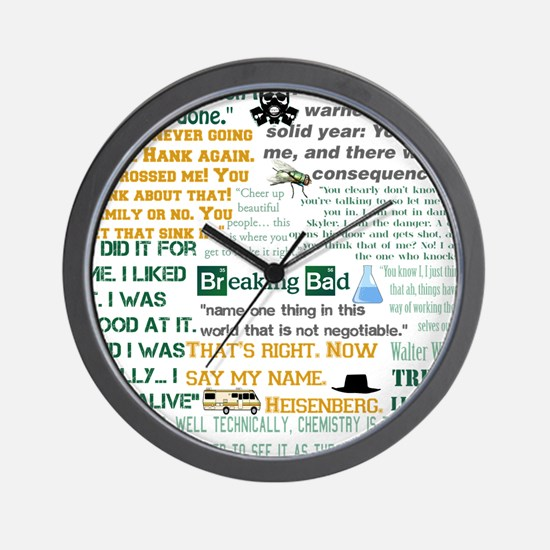 Walter White Quotes Wall Clock