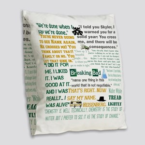 Walter White Quotes Burlap Throw Pillow