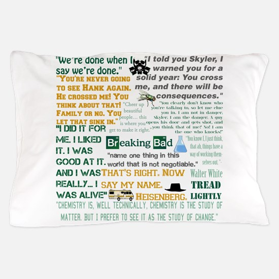 Walter White Quotes Pillow Case