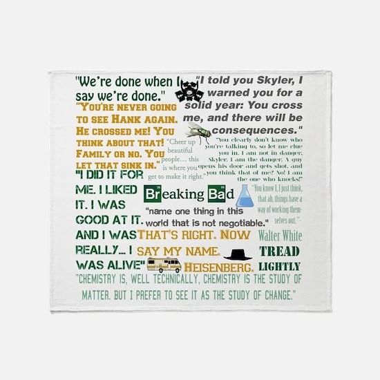 Walter White Quotes Throw Blanket
