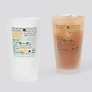 Walter White Quotes Drinking Glass