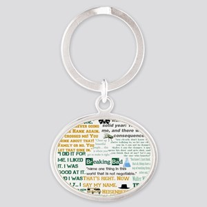 Walter White Quotes Oval Keychain