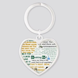 Walter White Quotes Heart Keychain