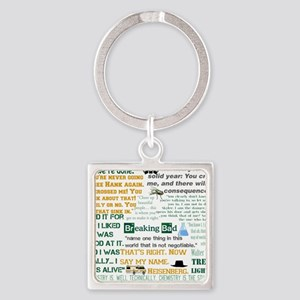 Walter White Quotes Square Keychain
