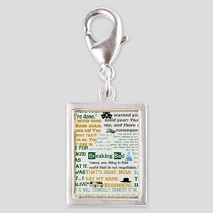 Walter White Quotes Silver Portrait Charm
