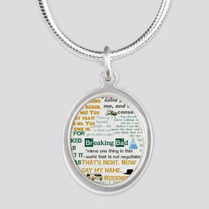 Walter White Quotes Silver Oval Necklace