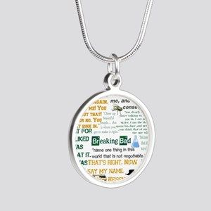 Walter White Quotes Silver Round Necklace