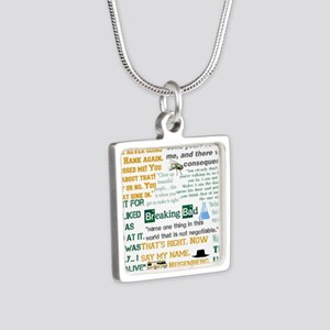 Walter White Quotes Silver Square Necklace