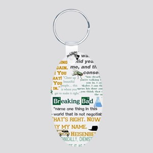 Walter White Quotes Aluminum Oval Keychain